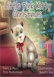 Little Pink Kitty Christmas by Pete Marksteiner
